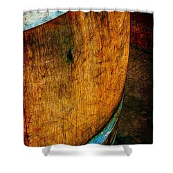 Rain Barrel Shower Curtain by Judi Bagwell
