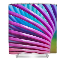 Rainbow 10 Shower Curtain by Steve Purnell