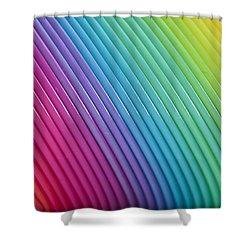 Rainbow 6 Shower Curtain by Steve Purnell