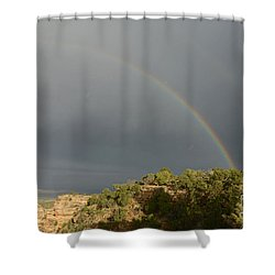 Rainbow At Grand Canyon Shower Curtain