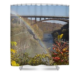 Shower Curtain featuring the photograph Rainbow At Lower Falls by William Norton