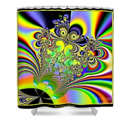Rainbow Butterfly Bouquet Fractal 56 Shower Curtain by Rose Santuci-Sofranko