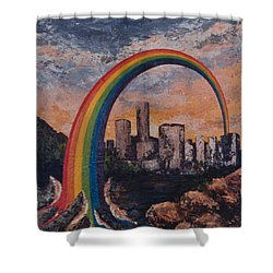Rainbow Shower Curtain