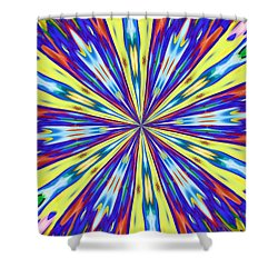 Shower Curtain featuring the digital art Rainbow In Space by Alec Drake