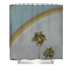 Shower Curtain featuring the painting Rainbow by Jindra Noewi