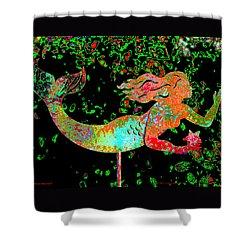 Rainbow Mermaid Shower Curtain