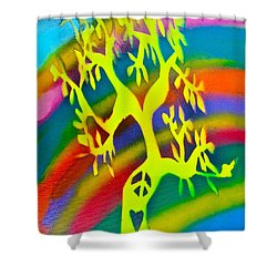 Rainbow Roots Shower Curtain by Tony B Conscious