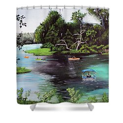 Rainbow Springs In Florida Shower Curtain by Luis F Rodriguez