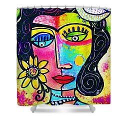 Rainbow Sunshine Frida Shower Curtain
