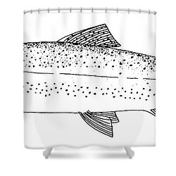 Rainbow Trout Shower Curtain by Granger