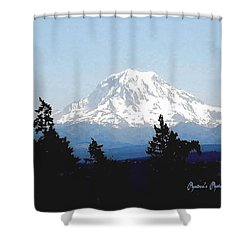 Rainier Reign Shower Curtain