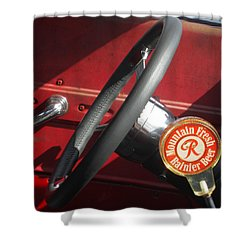 Shower Curtain featuring the photograph Rainier Stick Shift  by Kym Backland