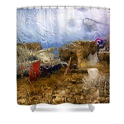 Rainy Day Abstract 3 Shower Curtain by Madeline Ellis