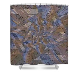 Rainy Day Portal 4 Shower Curtain by Tim Allen