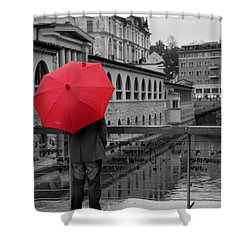 Rainy Days In Ljubljana Shower Curtain