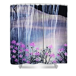 Shower Curtain featuring the digital art Rainy Nights In Georgia by Sherri  Of Palm Springs