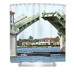 Raised Bridge Shower Curtain by Kenneth Albin