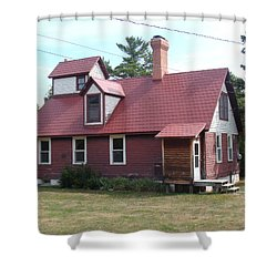 Range Light Shower Curtain by Bonfire Photography