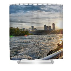 Shower Curtain featuring the photograph Rapids Sunset by Michael Frank Jr