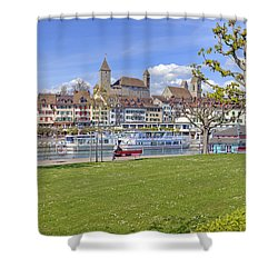 Rapperswil Shower Curtain by Joana Kruse