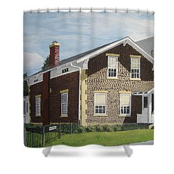 Shower Curtain featuring the painting Rasey House by Norm Starks