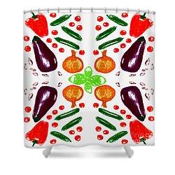 Shower Curtain featuring the digital art Ratatouille by Barbara Moignard