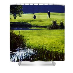 Rathsallagh Golf Club, Co Wicklow Shower Curtain by The Irish Image Collection