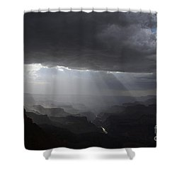 Rays In The Canyon Shower Curtain