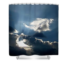 Rays Of Light Shower Curtain by Mark Dodd