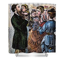 R.b. Hayes: Campaign, 1876 Shower Curtain by Granger