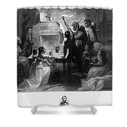 Reading Emancipation Proclamation Shower Curtain by Photo Researchers