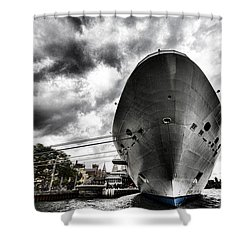 Ready To Cruise Shower Curtain by Douglas Barnard