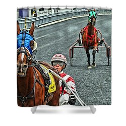 Shower Curtain featuring the photograph Ready To Race by Alice Gipson