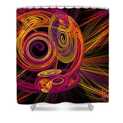 Record Time Machine Shower Curtain by Andee Design