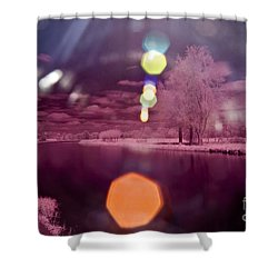 Recurring Light Shower Curtain