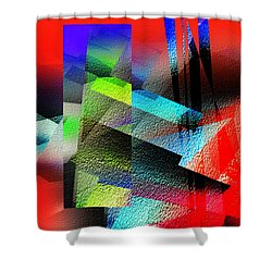 Red Abstract 1 Shower Curtain by Anil Nene