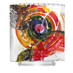 Red And Blue's Gold  837.120811 Shower Curtain by Kris Haas