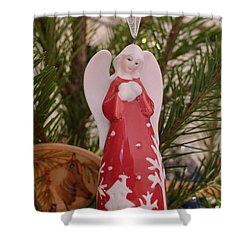 Shower Curtain featuring the photograph Red Angel by Richard Reeve