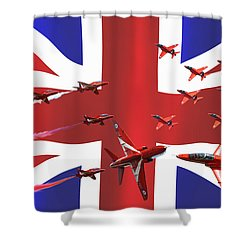 Red Arrows Union Jack Shower Curtain