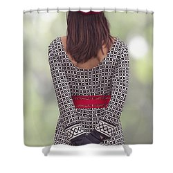 Red Cap Shower Curtain by Joana Kruse