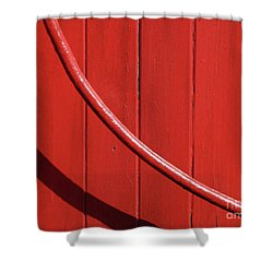 Shower Curtain featuring the photograph Red Curve by Newel Hunter