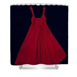 Red Dress Shower Curtain by Joana Kruse