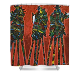 Red Dust Shower Curtain by Lance Headlee