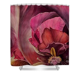Red Explosion   Sold Shower Curtain