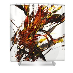 Red Flame II 65.121410 Shower Curtain by Kris Haas