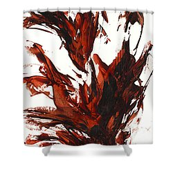 Red Flame IIi 64.121410 Shower Curtain by Kris Haas