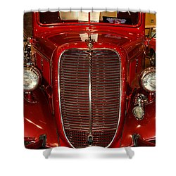 Red Ford Shower Curtain by Susanne Van Hulst