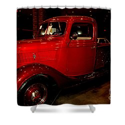 Red Ford Truck Shower Curtain by Susanne Van Hulst