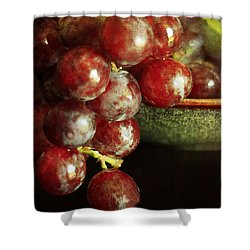 Red Grapes Shower Curtain by Darren Fisher