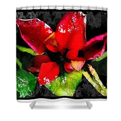 Red Leaves Shower Curtain by Mauro Celotti